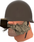 Painted Lord Cockswain's Novelty Mutton Chops and Pipe C5AF91.png