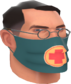 Painted Physician's Procedure Mask 2F4F4F.png