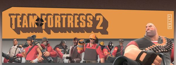 Header of TF2.com, with all 9 classes.