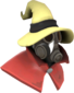 Painted Seared Sorcerer F0E68C Hat and Cape Only.png