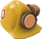 Painted Aperture Labs Hard Hat E7B53B Aperture Logo.png