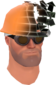 Painted Defragmenting Hard Hat 17% 424F3B.png