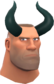 Painted Horrible Horns 2F4F4F Soldier.png