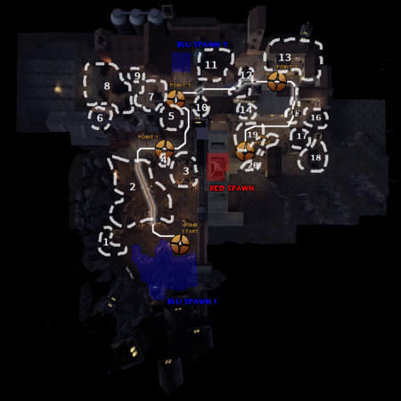 Bloodwater's locations