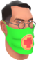 Painted Physician's Procedure Mask 32CD32.png