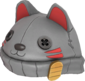 Painted Lucky Cat Hat 7E7E7E.png
