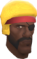 Painted Demoman's Fro E7B53B.png