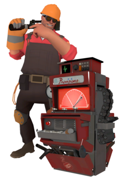 The Engineer with a fully upgraded Dispenser.
