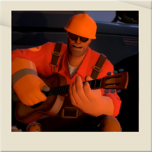 The Engineer and his trusty guitar.