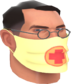 Painted Physician's Procedure Mask F0E68C.png