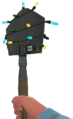 Festive Shovel 1st person BLU.png