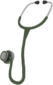 Painted Surgeon's Stethoscope 424F3B.png